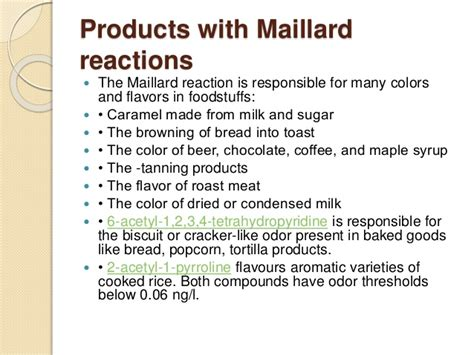 Food browning due Maillard chemical reaction occurs between amino aci