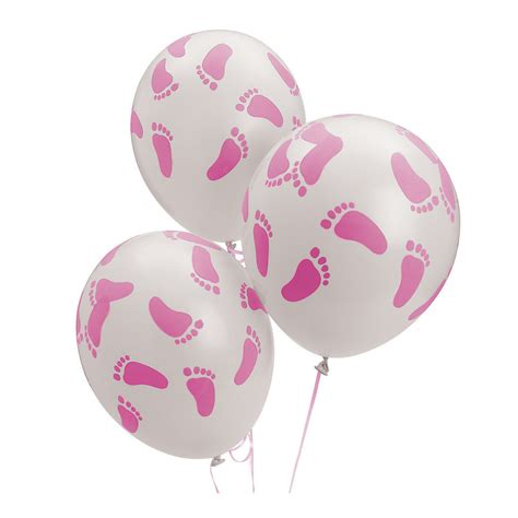 balloons baby shower 24 baby shower decorations latex balloons pink girl baby footprint feet 11 inch ebay