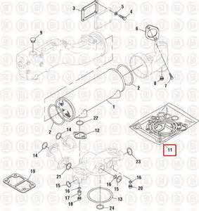 Caterpillar 3406e C15 Oil Cooler Gasket Kit Pai P  N 331389