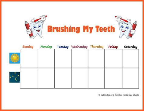 Free Brushing Your Teeth Chart (weekly Star)