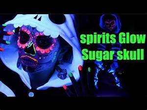 SUGAR SKULL Black light UV Makeup Tutorial Spirits Glow