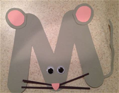 letter  mouse craft  kids network