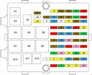 Ford Fiesta  2002 - 2008  - Fuse Box Diagram