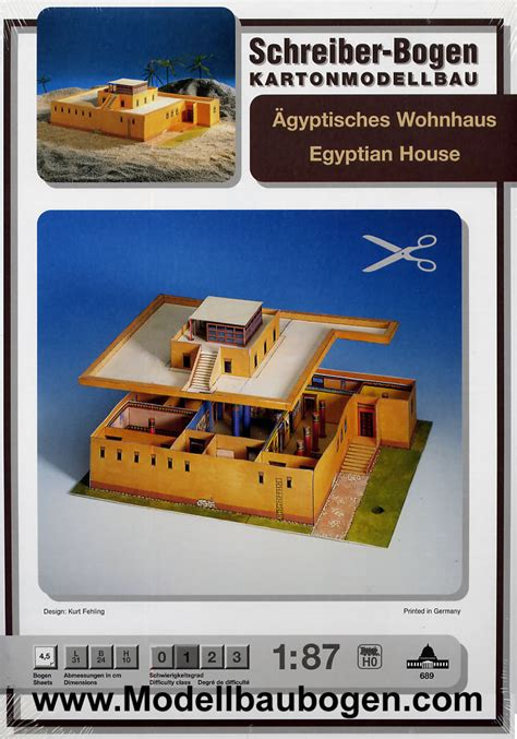 Ägyptisches Wohnhaus Wwwmodellbaubogencom