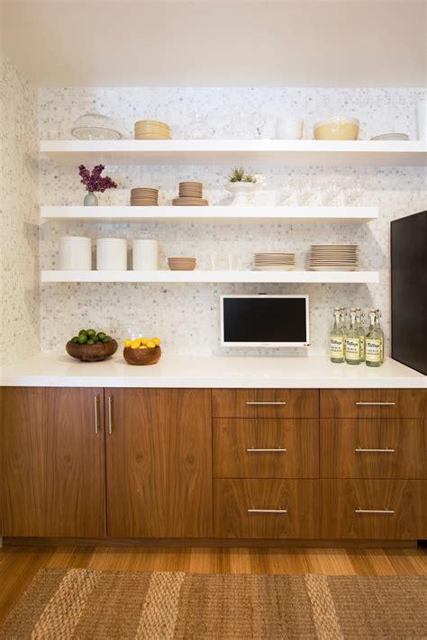 floating shelves great storage solution   kitchen