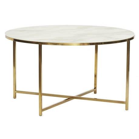 table basse marbre ronde table basse ronde metal dore verre blanc effet marbre