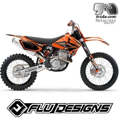 kit deco 125 sx 2006 9ride moto vous propose un kit deco flu designs ktm 125 sx