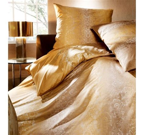 mako satin bettwäsche 155x200 mako satin bettw 228 sche elegantes design gold gelb 155 200 60 80