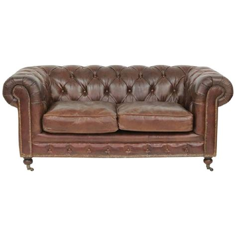 chesterfield sofa leather for sale brown tufted leather chesterfield sofa for sale at 1stdibs