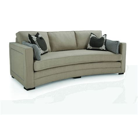 loveseat settee fabric curved sofa decorium furniture