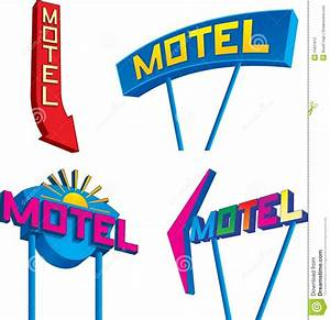 Motel Signs stock vector. Image of motel, signal ...