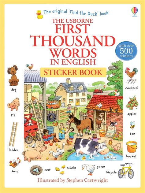 """The word families an, ap & at are a good phonics group to start with. """"First thousand words in English sticker book"""" at Usborne ..."""