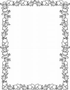 spring borders Colouring Pages