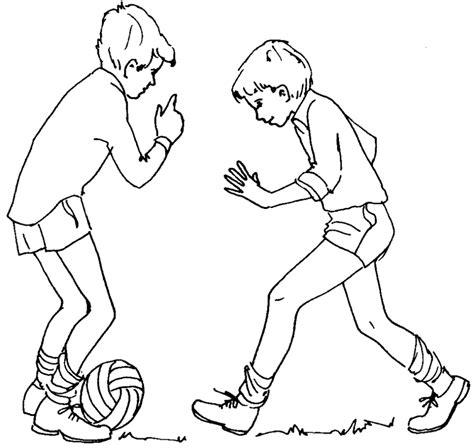 bambini gioco disegno sta disegno di giocare a calcio da colorare