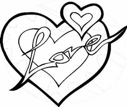 Valentines Coloring Heart Pages Valentine