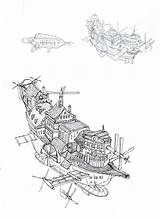 Flying Concept Ships Steampunk Ship Deviantart Airship Drawings Dirigeable Projet Vehicule Dessins Livres Par Coloring Deviant Downloads sketch template