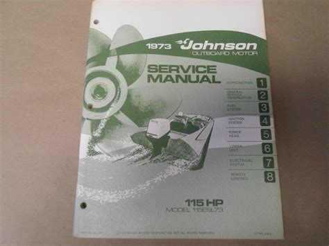 1973 Evinrude Outboard Motor 18 Hp Service Manual Models