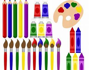 Clipart Of Art Supplies - Cliparts co