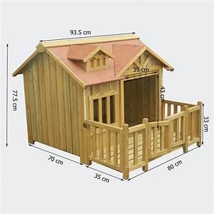 Hundehütte Mit Terrasse : luxus xl hundeh tte hundehaus massiv holz mit balkon terasse ~ Watch28wear.com Haus und Dekorationen