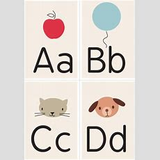 Alphabet Printable  Lets Decorate  Free Printable Flash Cards, Letter Flashcards, Color Flashcards
