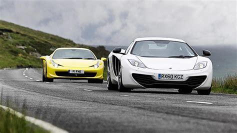 Mclaren Mp4 12c Vs 458 by Mclaren Mp4 12c Vs 458 Italia Top Gear