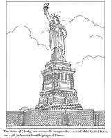 Liberty Statue Coloring Pages Printable York Skyline Colouring Island Ellis Template Traditional Simple Colored Inkspired Musings Sculpture Historical Books Roses sketch template
