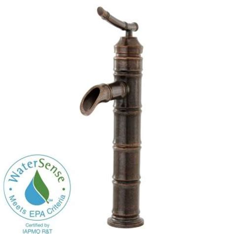 pegasus bamboo faucet heritage bronze null bamboo single 1 handle low arc bathroom vessel