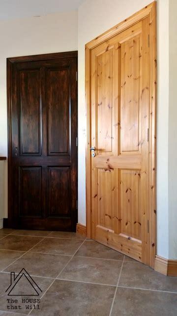 pine doors stained amazing wood interior doors