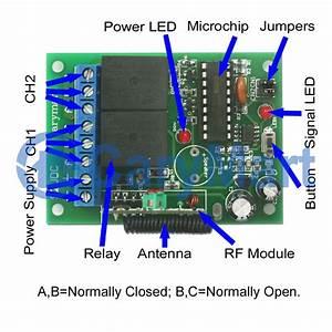 6v 9v 12v 24v 2ch Wireless Remote Control Momentary Mode