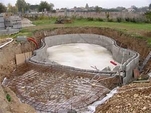 piscine arrondie en blocs a bancher piscine With piscine en agglos a bancher