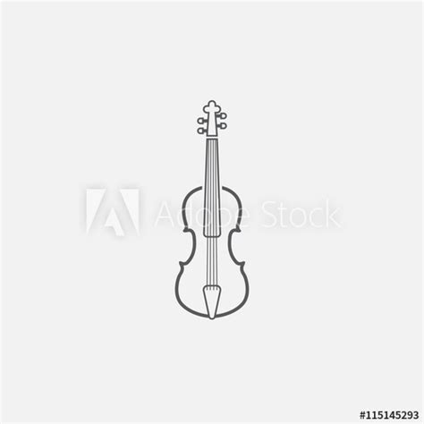 violin  icon outline vector logo illustration linear