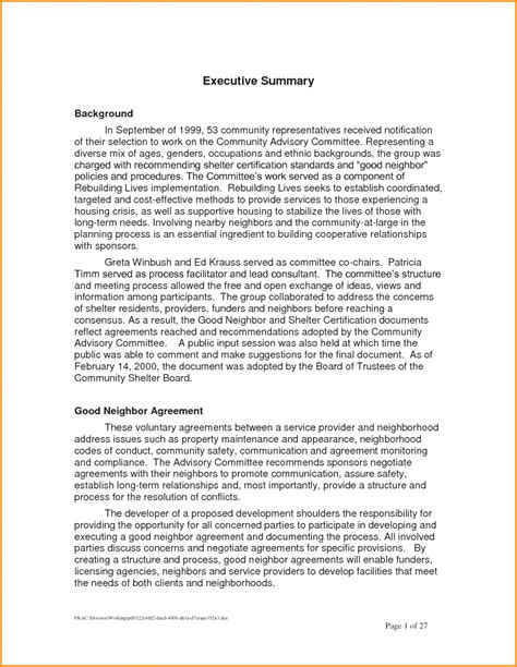 Research Synopsis Template by Gallery Of Executive Summary Resume Exles