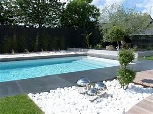 galets blancs et composition artistique terrasse et With idee terrasse exterieure contemporaine 7 amenager une cour moderne avec une composition de graviers