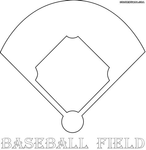 baseball template baseball field coloring pages coloring pages to and print