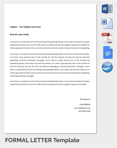 Letter Template by 18 Sle Formal Letters Sle Templates