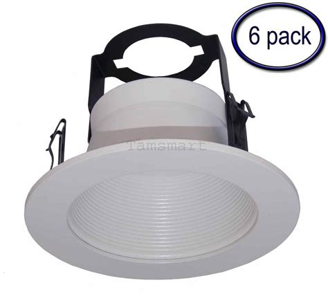 12 pack 6 inch white baffle recessed can light trim 6 pack 4 quot step baffle trim with bracket for recessed