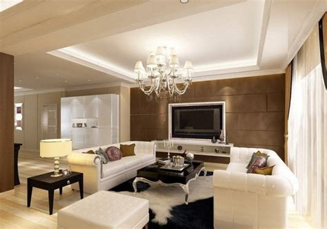 Gypsum Board Ceiling Design For Luxury Living Room