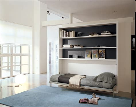 bed wall poppi horisontal fold away wall bed with desk on request