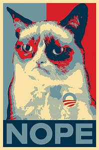 Grumpy Cat Nope poster by xpsr on DeviantArt