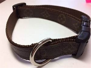 Louis Vuitton Dog Collar With Floral Pattern Upcycled Etsy