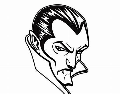 Dracula Coloring Profile Pages Halloween Bed Under