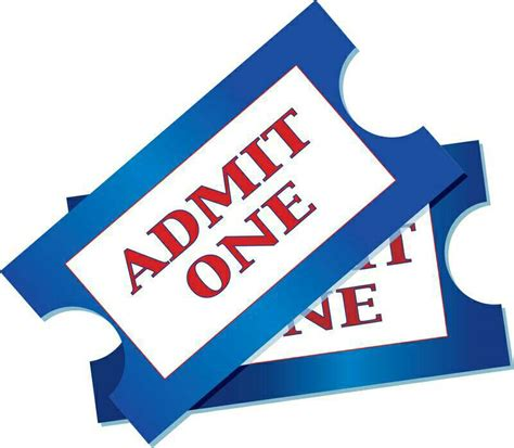 admission ticket clipart clipart collection ticket