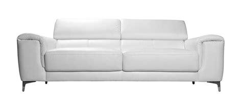 entretien canapé cuir buffle canapé cuir design trois places avec têtières relax blanc