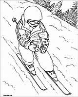 Pages Skiing Coloring Sports Printable Sheets Coloriage Dibujar Para Dessin Children Dibujos Imprimer Colorear Deportes Colorier Templates Dessins Found Dibujo sketch template