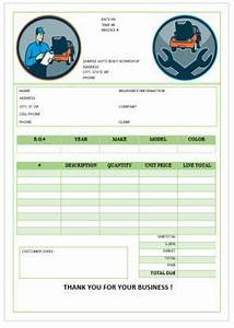 Department Budgeting Garage Repair Invoices Template Invoice Template