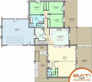 plan maison contemporaine 5 chambres With plan de maison 150m2 5 plan maison tunisie plan maison tunisienne 3d incroyable