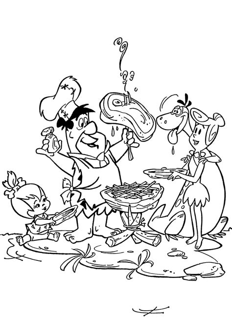 flintstone coloring page coloring home