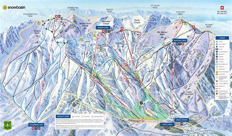 snowbasin map trail utah ski snow report areas lake salt snowbrains skiutah members