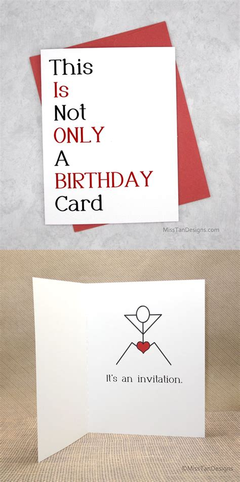boyfriend birthday cards   funny gift sexy