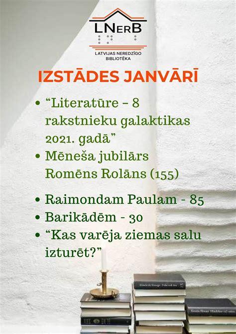 Plakāts Izstādes janvārī bibliotēkā Rīgā